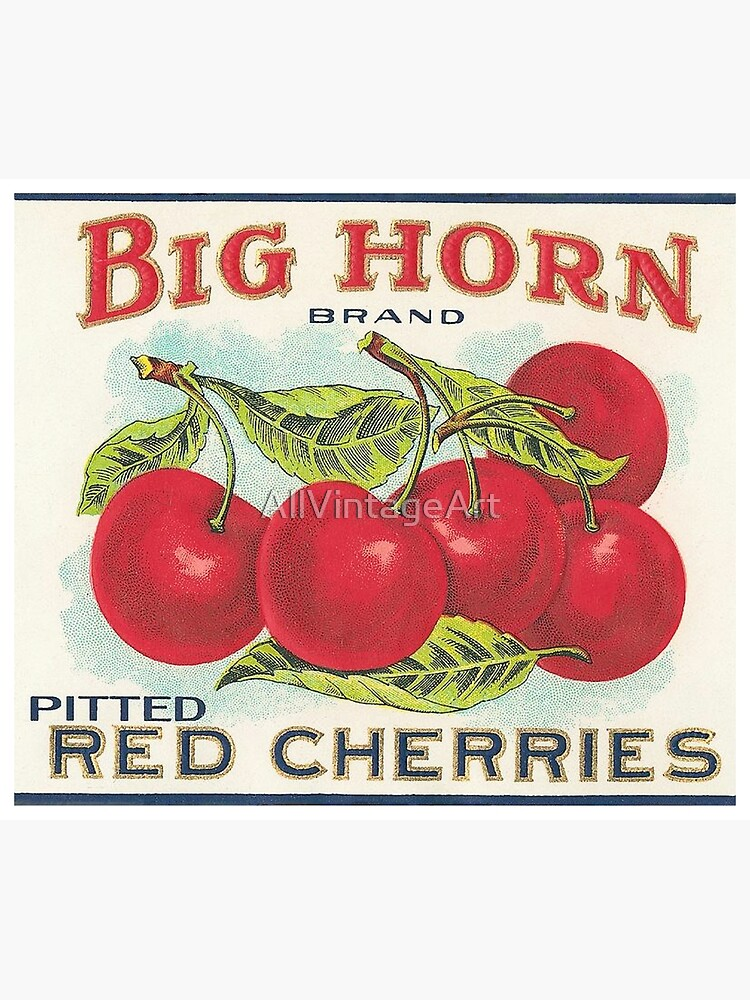 Vintage Fruit Canning Label - Cherries by AllVintageArt