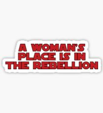 Rebellious Women (red, bold) Sticker