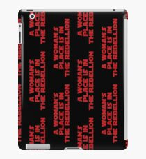 Rebellious Women (red, bold) iPad Case/Skin