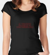 Rebellious Women (red, outline) Women's Fitted Scoop T-Shirt