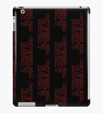 Rebellious Women (red, outline) iPad Case/Skin