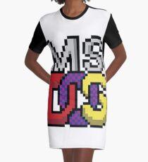 MS DOS Pixel Art Graphic T-Shirt Dress