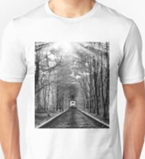 On tHe Right Track (B&W) Unisex T-Shirt