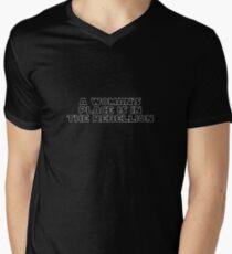 Rebellious Women (white, outline) Men's V-Neck T-Shirt