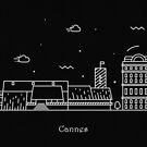 Cannes Skyline Minimal Line Art Poster by A Deniz Akerman