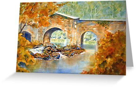 Bridge at Watersmeet by bevmorgan