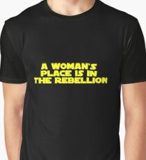 Rebellious Women (yellow, bold) Graphic T-Shirt
