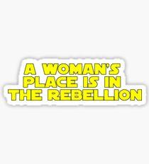 Rebellious Women (yellow, bold) Sticker