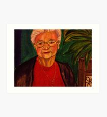 Madame Marcelle -  A local celebrity!! Art Print