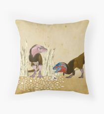 Lesser Bowertyrant (Gorgosaurus libratus) Throw Pillow