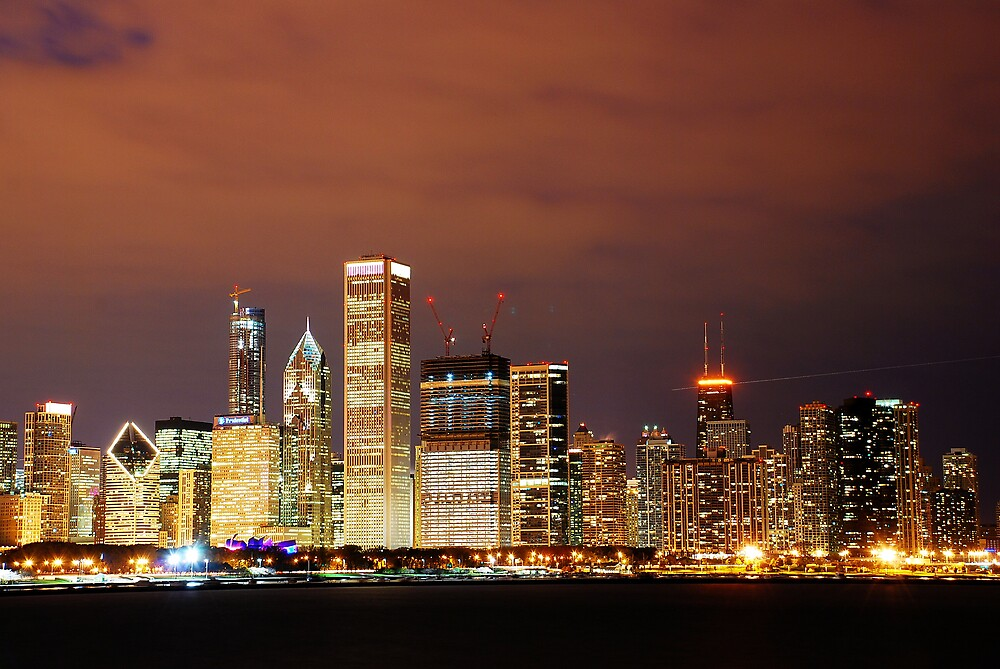 Chicago at night by jack8
