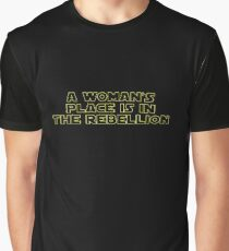 Rebellious Women (yellow, outline) Graphic T-Shirt
