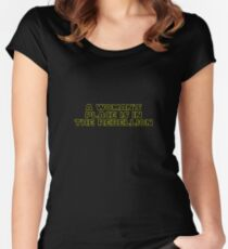 Rebellious Women (yellow, outline) Women's Fitted Scoop T-Shirt