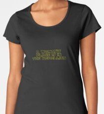 Rebellious Women (yellow, outline) Women's Premium T-Shirt