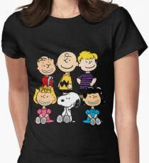 Peanuts - Charlie Brown, Snoopy Women's Fitted T-Shirt