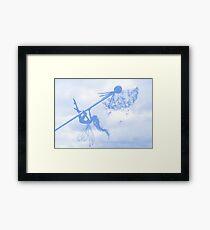Blue Breeze Fairy Framed Print