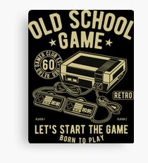 Old School Game Videogame Gaming Retro Vintage Canvas Print