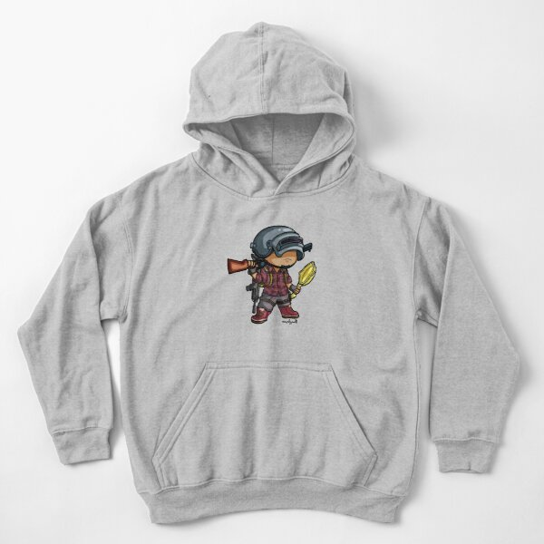 PUBG - Estilo Chibi Sudadera con capucha para niños