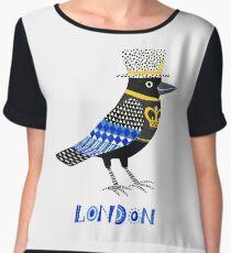 London Raven Chiffon Top