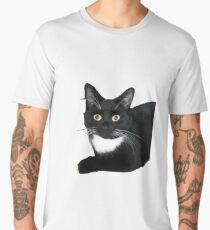Black and White Cat Men's Premium T-Shirt