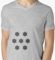 fire star psychedelic geometric art by TrippyNature Men's V-Neck T-Shirt