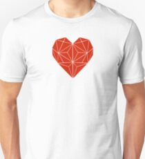 Red Triangle Heart Unisex T-Shirt