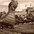 Riding on a dragon by 13radley