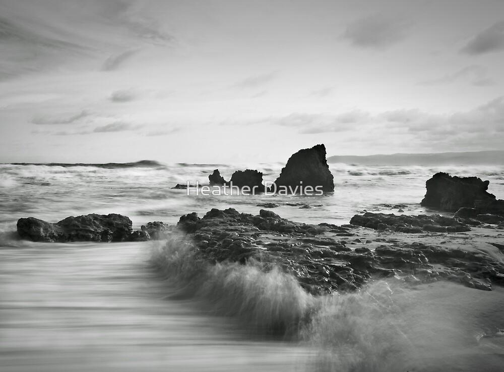 River Rocks, High Tide by Heather Davies