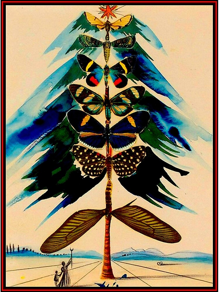 BUTTERFLY TREE : Vintage Abstract Dali Print by posterbobs