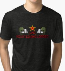 LMG MOUNTED AND LOADED Tri-blend T-Shirt