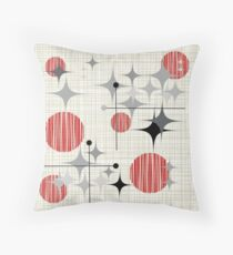 Eames Era Starbursts and Globes 2 (Bkgrnd) Throw Pillow