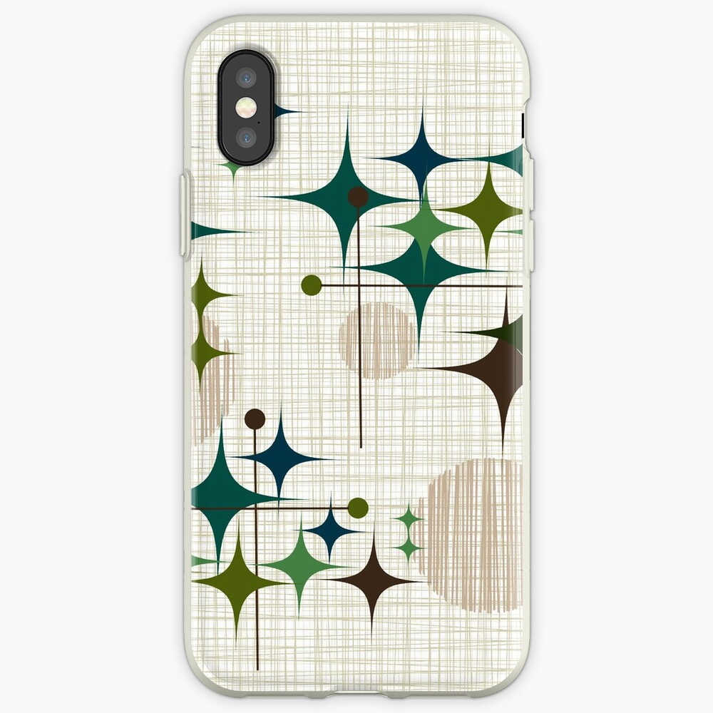 Eames Era Starbursts and Globes 1 (bkgrnd) iPhone Cases & Covers