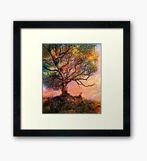 Sunset at Fox Mountain Framed Print