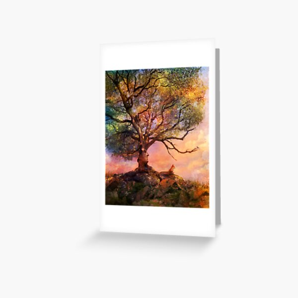 Sunset at Fox Mountain Greeting Card