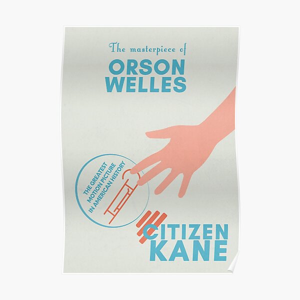 Citizen Kane, Orson Welles, minimalist movie poster, 1941 hollywood masterpiece, classic film (quarto potere) Poster