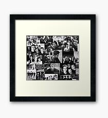 Why Don't We Black White Collage Framed Print
