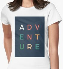 Adventure typography Women's Fitted T-Shirt