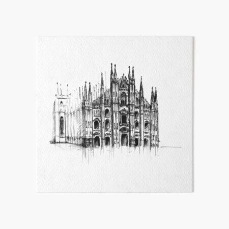Duomo di Milano. Milan Cathedral. Art Board Print