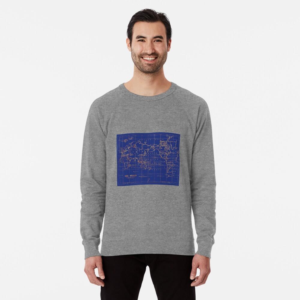 Weltkarte Leichter Pullover