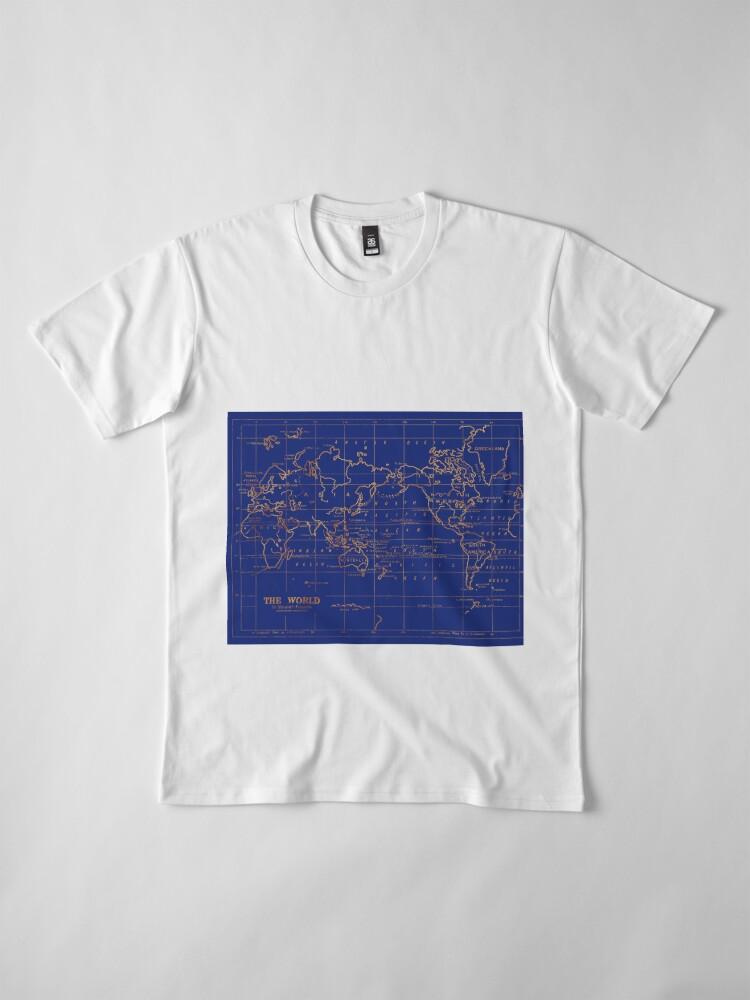 Alternative Ansicht von Weltkarte Premium T-Shirt