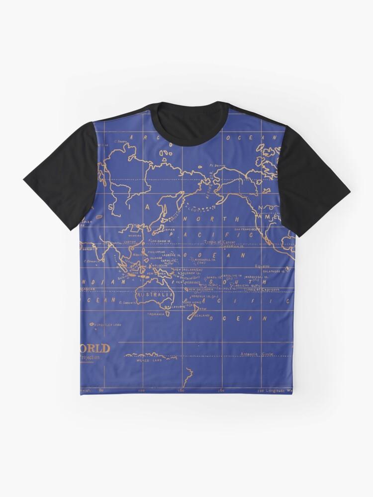 Alternative Ansicht von Weltkarte Grafik T-Shirt