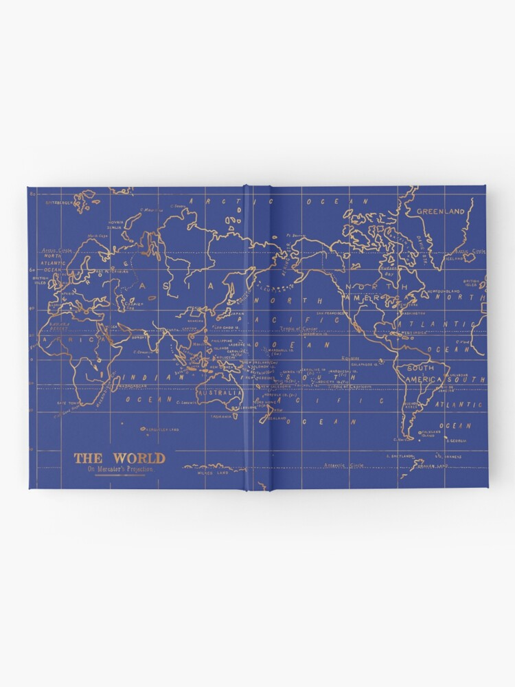 Alternative Ansicht von Weltkarte Notizbuch