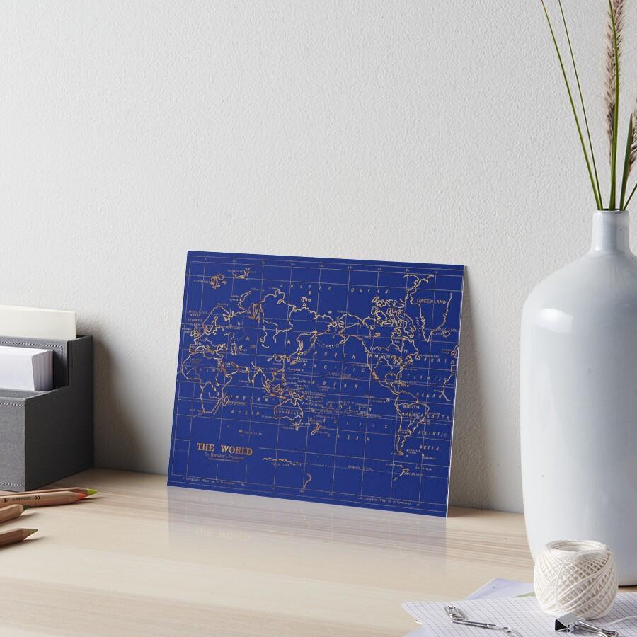 Weltkarte Galeriedruck