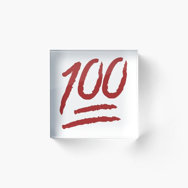 Perfect score 100 emoji very high resolution Acrylic Block
