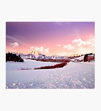 Sunrise In the Tetons Photographic Print