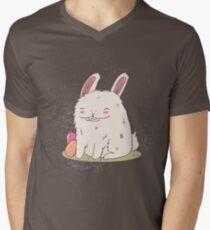 Rabit On Galaxy Men's V-Neck T-Shirt