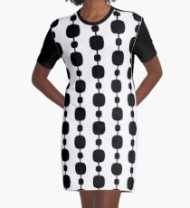 60s Contrast Pattern 9 Graphic T-Shirt Dress