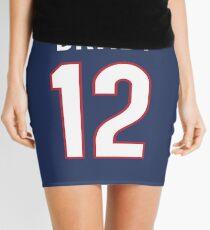 Männer New_ England_ Patriots _Tom _Brady # 12 blaues Spiel Jersey Minirock