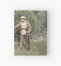 British WWI soldier meets medieval fella, 1917 Hardcover Journal