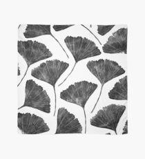 Ginkgo biloba, Lino cut nature inspired leaf pattern Scarf